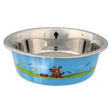 Rostfri skål med plastbeläggning - 0,4 liter
